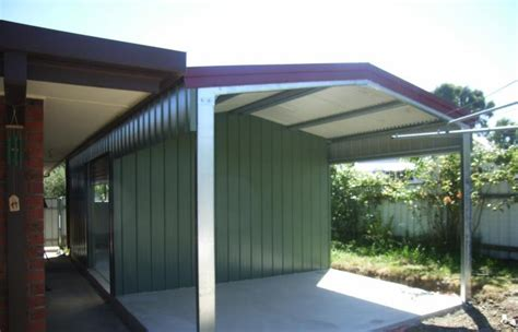 Shed Roof Extension by Steel Storage Sheds For New Zealand Residential Properties