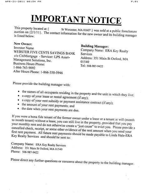 Letter To Bank For Foreclosure Of Loan Notice Of Default Letter Sle Free Printable Documents