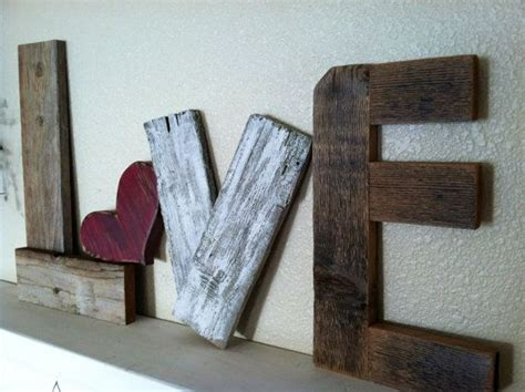 reclaimed home decor rustic love reclaimed wood valentine home decor 36 00