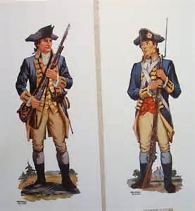 Revolutionary war uniforms vintage soldier watercolorsprints from