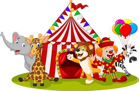 el circo con ventanas 8430549005 circo y payaso animales felices de la historieta ilustraci 243 n del vector ilustraci 243 n de fondo