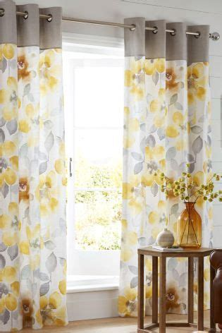 next lime green stripe printed eyelet curtains | curtain