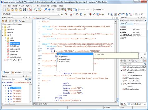 Office Xml Editor Microsoft 174 Office Office Open Xml Ooxml Oxygen Xml