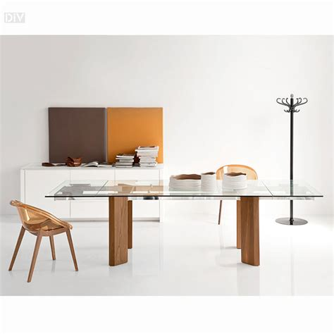 tower wood extendable dining table dining tables dining