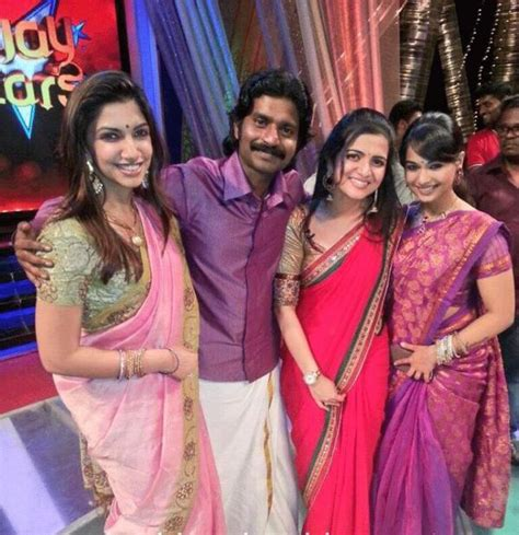 serial actor ganesh gopinath divyadarshini with vijay tv stars veethi