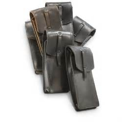 the leather pouch surplus leather mag pouches black 6 pack
