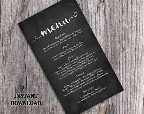 editable chalkboard business card template free chalkboard wedding menu template diy menu card template