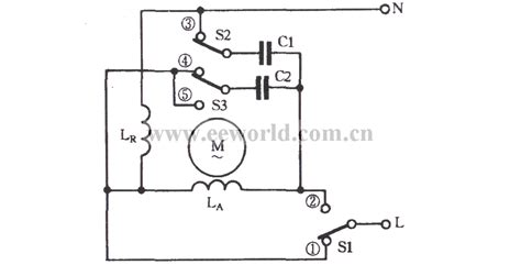 capacitor parallel to motor the single phase motor connected capacitor series parallel three speed circuit basic circuit