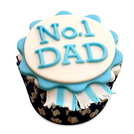 order no.1 dad designer cupcakes online, buy and send no.1
