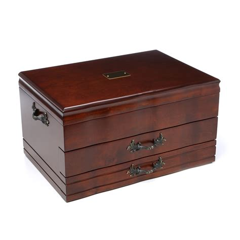 Flatware Chest With Drawer by Reed Barton 2 Drawer Provincial Mahogany Silverware