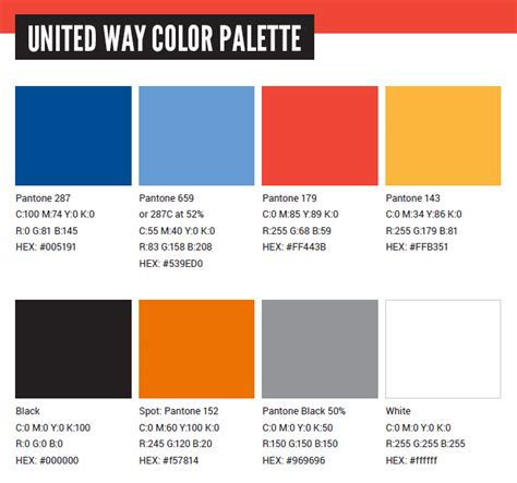 color way united way color palette united way of central alabama inc