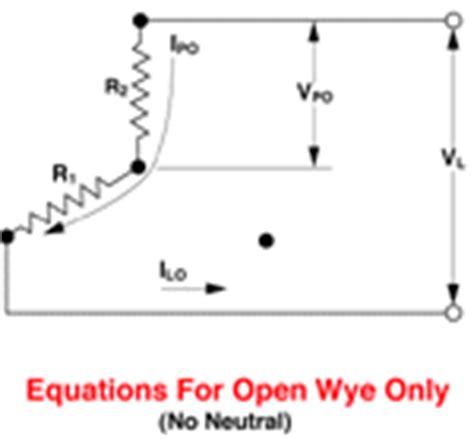delta and wye circuit equations and connections
