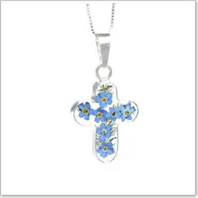 Forget Me Not Necklace P 178 remembrance necklace forget me not collection cross optional engraving someone remembered
