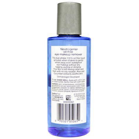 Neutrogena Makeup Remover neutrogena free eye makeup remover 5 5 fl oz 162 ml