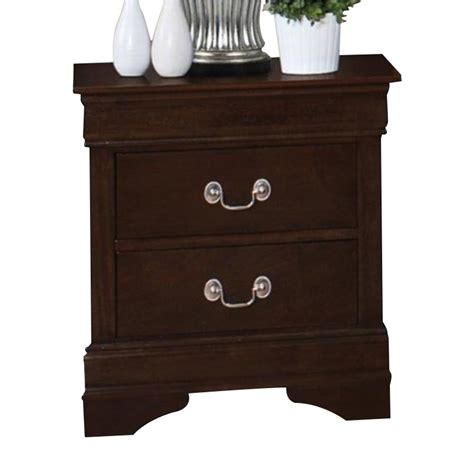 coaster lancashire two drawer nightstand with built in coaster louis philippe two drawer nightstand in cappuccino