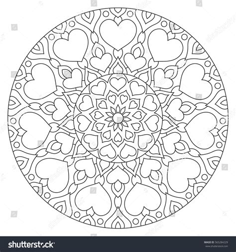 mandala coloring pages valentines flower mandala hearts coloring page valentines stock