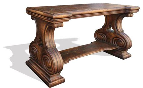 tuscany sofa table world tuscan sofa table romana distressed fresco