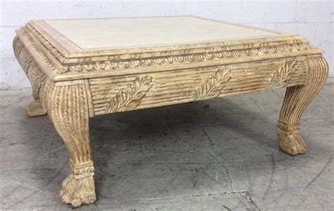 Tuscan Style Coffee Table Tuscan Style Claw Foot Coffee Table