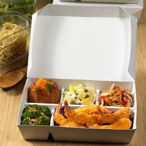 Kemasan Bento Box Bento Paper 4 Sekat Food Grade Xl Stock Ready