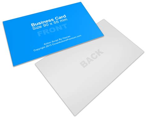 business card template 10 per sheet horizontal 90x55mm business card mock up cover actions premium