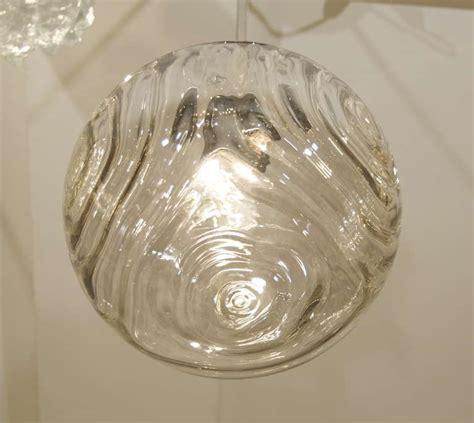 Smoke Glass L by Optic Wave Pattern Smoke Glass Pendant At 1stdibs