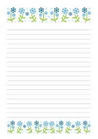 printable january writing paper floral stationery and writing paper notes stationery