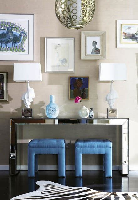 Entryway Table With Stools Underneath by Mirrored Console Table Contemporary Entrance Foyer