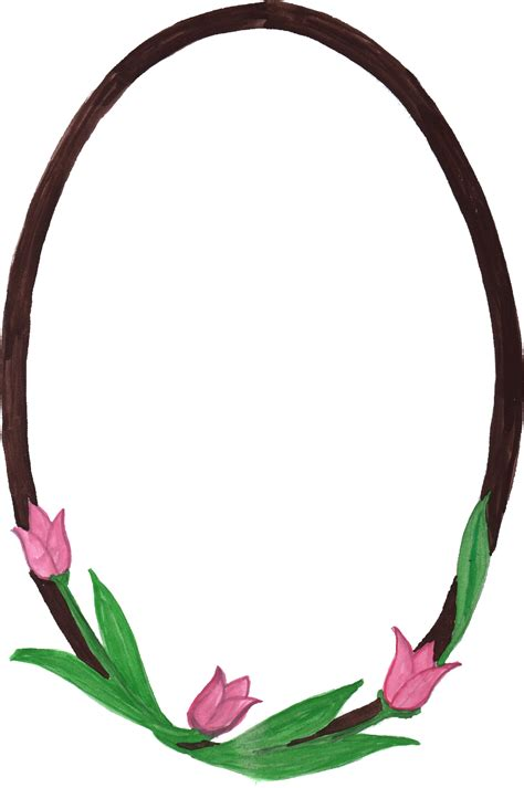 transparent oval frames 10 watercolor oval frame with flowers png transparent