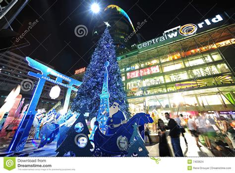 christmas celebration at central world in bangkok