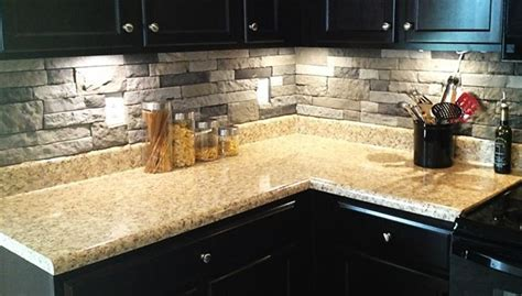 stone veneer kitchen backsplash pin by melissa zieleniewski on for the kitchen pinterest