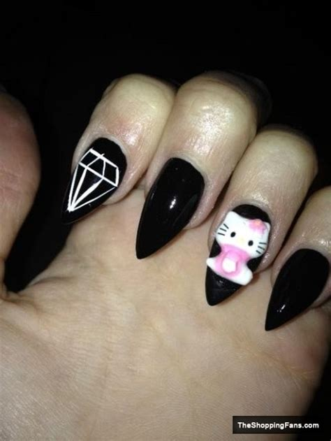 cute stiletto nail designs fashion for women