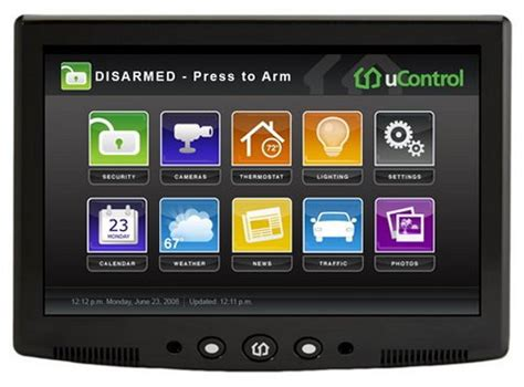 ucontrol security system with media