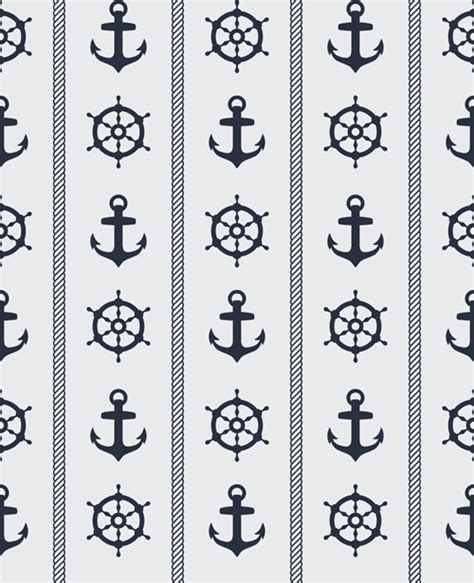 nautical pattern vector nautical elements seamless pattern vector 03 vector