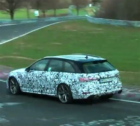 Audi Rs4 Twin Turbo by 2018 Audi Rs4 Avant Twin Turbo V6 Spied Video Dpccars