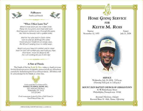 free funeral program templates 5 free funeral program template for word teknoswitch