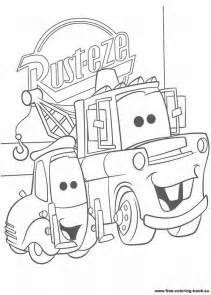 free cars pixar coloring pages