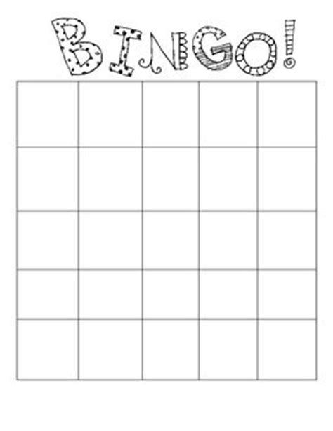 bingo card template 5x5 bingo board template could fill it with things to do once