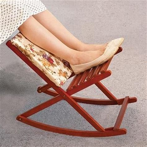 Padded Rocking Foot Stool by Vintage And Furniture On