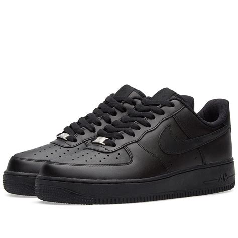 sneakers size 1 nike air 1 07 mens 315122 001 black leather low