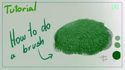 paint tool sai bristle 2 em paint tool sai como fazer uma moita tutorial