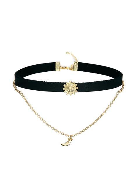 asos asos sun moon choker necklace at asos