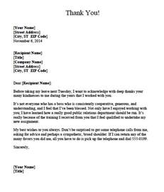 Thank You Letter Exles After Resignation Letter Appreciation Letter After Resignation