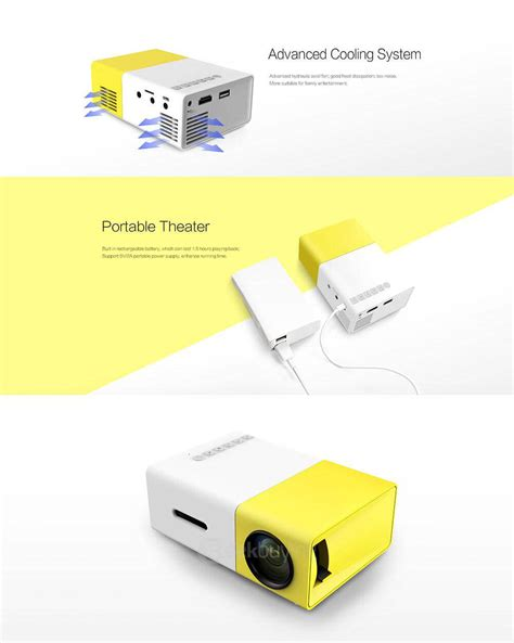 Home Theater Yg Bagus yg 300 mini pocket lcd projector yellow