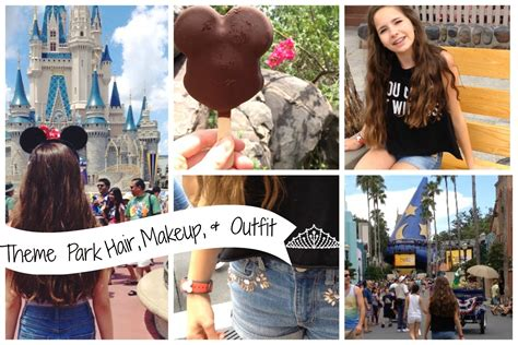 theme park hairstyles theme park hair makeup outfit youtube