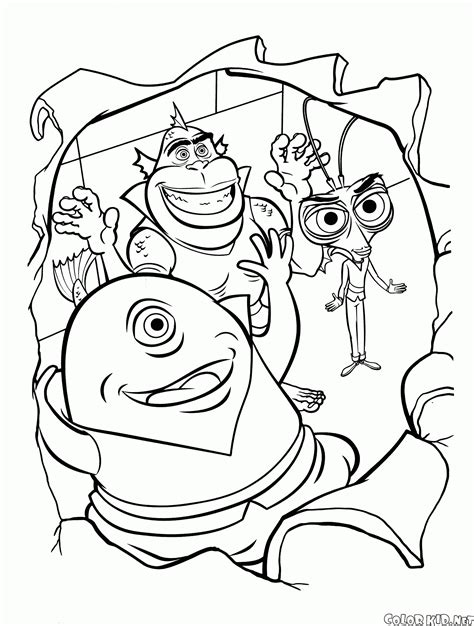 Coloring Page Missing Link Monsters Vs Aliens Coloring Pages