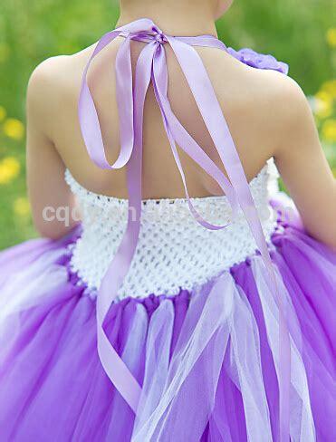 Rok Tutu Bayi Ungu 1 anak anak bunga gaun tutu bunga gadis gaun ungu tulle gaun