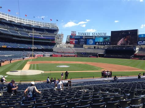 seats from yankee stadium yankee stadium section 117b new york yankees