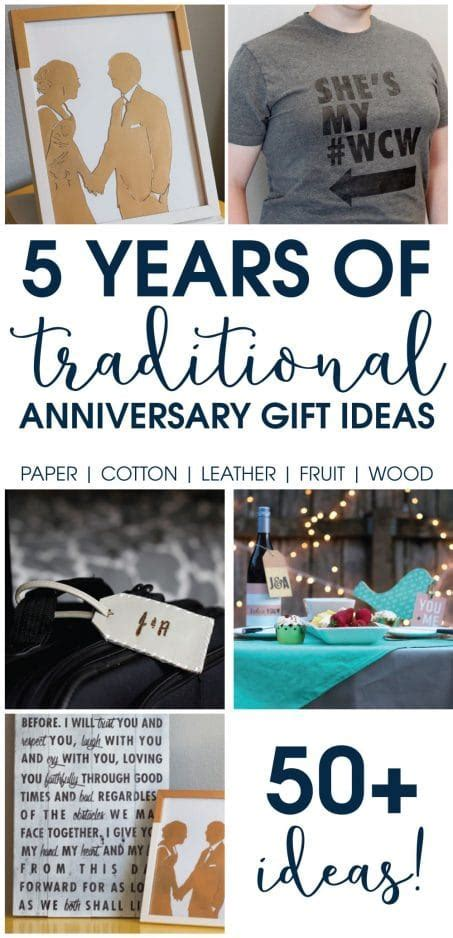 Traditional Anniversary Gift Ideas for the First 5 Years