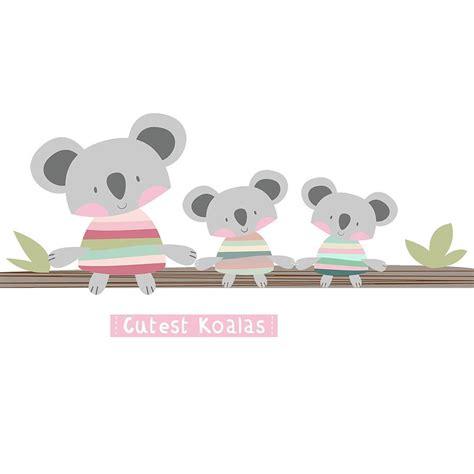 koala wall stickers cutest koalas fabric wall stickers by littleprints notonthehighstreet