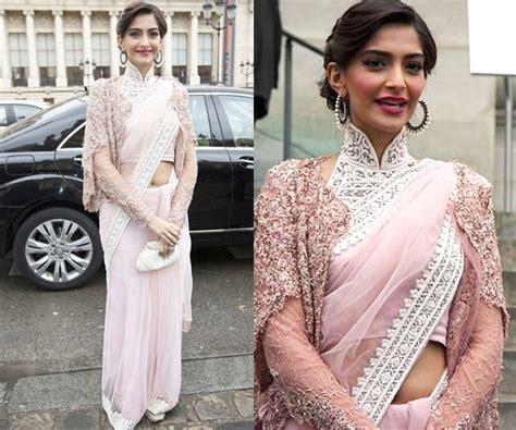 sonam kapoor hairstyles in saree sonam kapoor s interesting saree styles threads